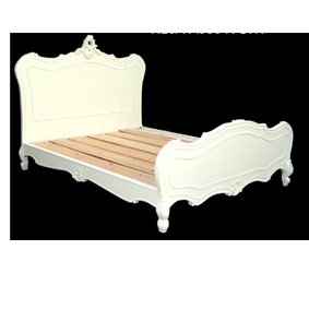 Antique White 5ft French Style King Size Wooden Bed Frame Amazon Co