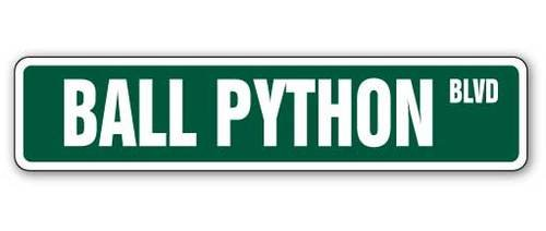Snake Street - [SignJoker] BALL PYTHON Street Sign snake reptile signs boa gift Wall Plaque Decoration