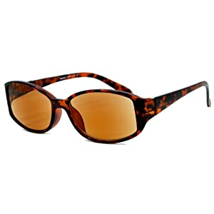 In Style Eyes® Stylish Full Reader Sunglasses / Tortoise 1.00 Strength