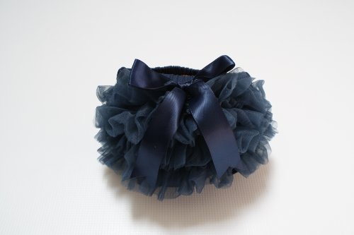 *THIS LISTING IS FOR THE DIAPER COVER ONLY* Indigo Blue Chiffon Diaper Cover Newborn Photography Props 0-1 Month - Newborn Photo Props, Bloomers, Baby Props, Newborn