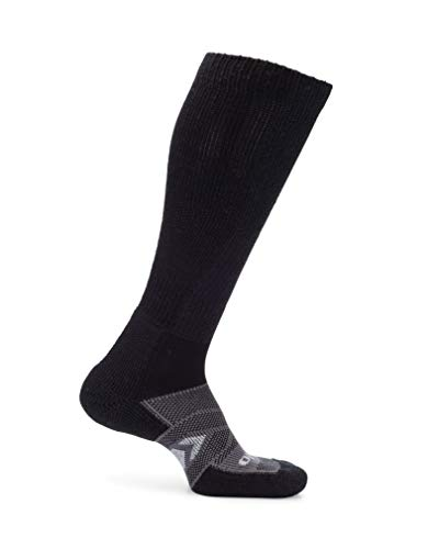 Thorlos Unisex Adult's 12 Hour Shift Thick Padded Over-The-Calf Work Socks, Black/Grey Large ()