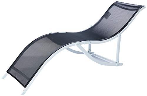 "Cadeira Espreguiçadeira ""s"" Aluminio Textilene (357) - Preta Bel Fix Preto"