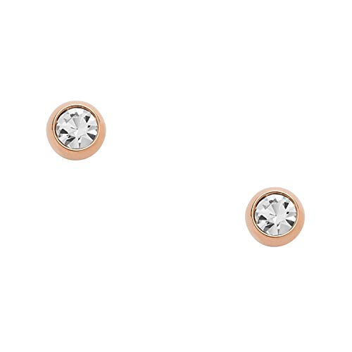 Fossil Round Earrings - Fossil Women's Glitz Round Stud Earrings, One Size