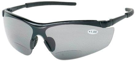 Case of 12 Pairs Liberty Glove /& Safety 1775G10 Liberty ProVizGard Synergy Protective Eyewear Bifocal +1 Gray Lens Black Frame