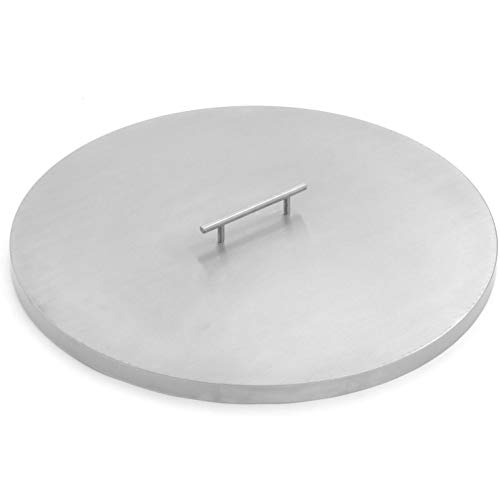 Lakeview Outdoor Designs 22-Inch Stainless Steel Burner Lid - Fits 19-Inch Round Drop-in Fire Pit Pan or 18-Inch Round Flat Fire Pit Pan