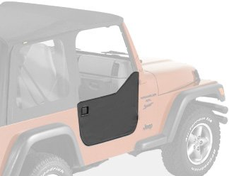 Bestop 53039-35 Black Diamond Fabric Lower Half Door Set for 1997-2006 Wrangler including Unlimited - Door Latch Pivot