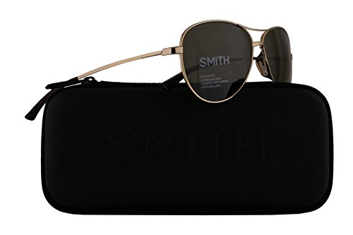 Smith Langley Sunglasses Gold w/ChromaPop Polarized Grey Green Lens 60mm J5G - Dolen Smith Sunglasses