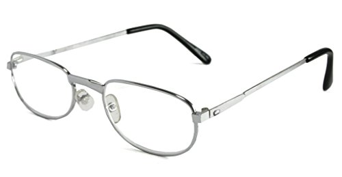 Mr. Reading Glasses [+3.75] Metal Frame Unisex Pair of Reading Glasses - (+3.75, Silver)