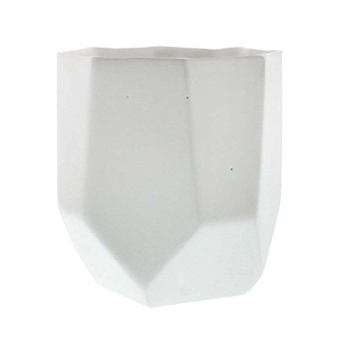 Faceted Geometric White Ceramic Mini Vase Set 3 | 5