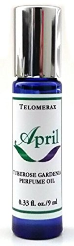 April - Tuberose Gardenia Perfume Oil - Roll-on Perfume Oil - 100% Natural Scent - 0.33 (Tuberose Scent)