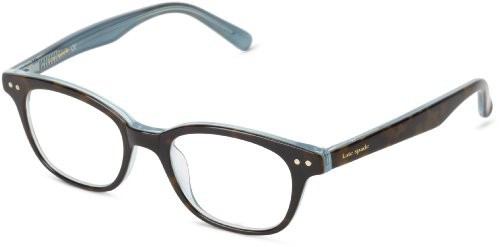 -  Kate Spade Women's Rebec Cat Eye Reading Glasses, Tortoise Aqua, 49 mm (2 x Magnification Strength)