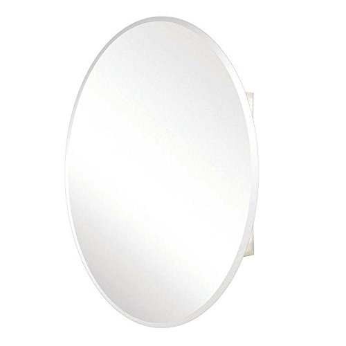 (Pegasus SP4583 36-Inch by 24-Inch Surface or Recessed Mount Oval Beveled Mirror Medicine Cabinet, Clear)