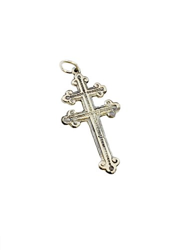 Silver Sterling French Cross (Cross of Lorraine French Foreign Legion Magnum Pendant Sterling Silver 925 By Ezi Zino)