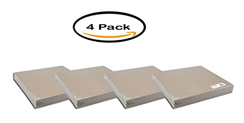 PACK OF 4 - Grafix Medium Weight Chipboard Sheets 12''X12'' 25/Pkg-Natural by Grafix