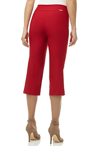 Rekucci Women's Ease into Comfort Capri with Button Detail