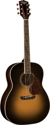 Washburn USM-LSJ743STSK Lakeside Jumbo Series Acoustic Guitar, Tobacco Sunburst -