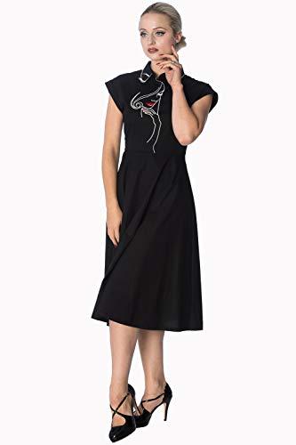 Weiß Size Schwarz Kleid Banned Plus Längeres Model Schwarz Oder Face t7w7q8AHPW
