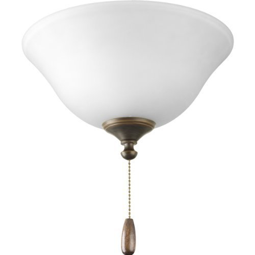Progress Lighting P2612-20 AirPro 3-Light Ceiling Fan Light, Antique Bronze by HI- Progress Lighting by HI- Progress Lighting