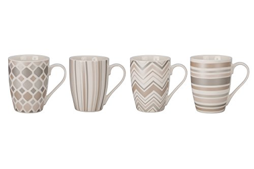 - BIA Cordon Bleu 903162+B18S4SIOC Gift Sets Metallic Medley Coffee Mug (Set of 4), 16 oz, Assorted Colors