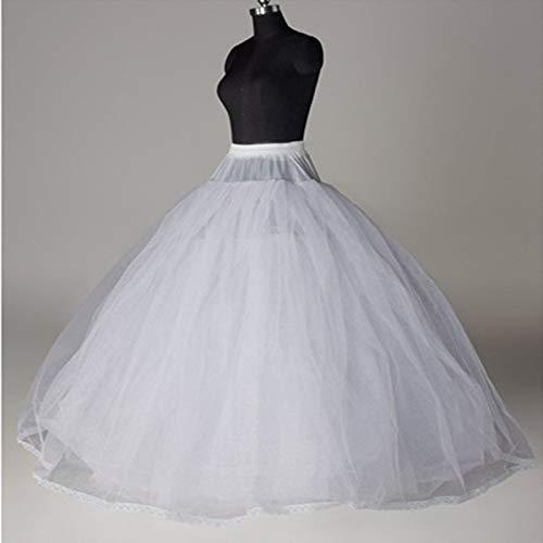 LZLAN White Petticoat Adult Wedding Dress Crinoline Bridal Petticoat Skirt Slip No Hoop Wedding Accessories (Size: One Size, Color: White) ()
