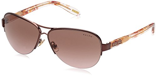 Ralph by Ralph Lauren 0RA4095 403/14 Aviator Sunglasses,Burgundy,58 - Lauren Ralph Aviators
