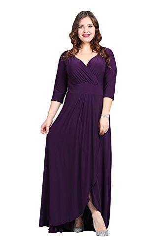 4 para vestido mujer Angelino morado manga Vestido 3 xqUUHOp
