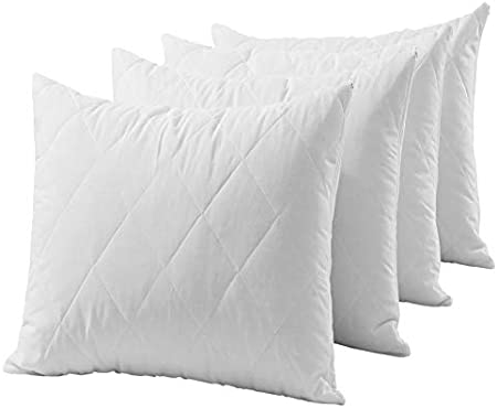 NEW Four Hotel Quality Anti Allergy Poly Cotton Quilted Pillow Protectors SALE