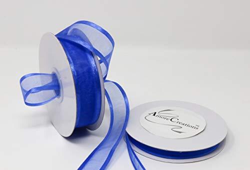 (Royal Blue Organza Ribbon with Satin Edge-25 Yards X 1.5 Inches)