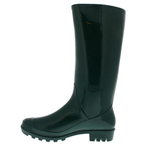 Polar Womens Tall Snow Gloss Winter Muck Rain Waterproof Green Boot Original Wellingtons Boots w1qrfxaw