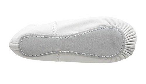 Zapatos De Ballet De Cuero Deluxe (cuero Blanco)
