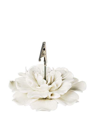 Sullivans White Ceramic Flower Clip Photo Holder