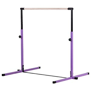 Nimble Sports Purple Junior Adjustable Horizontal Bar Kids Kip Bar