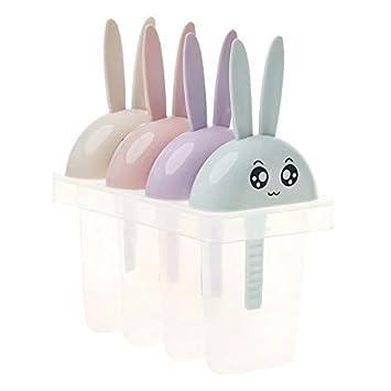 FlowerBeads - Juego de 6 moldes para paletas de hielo sin BPA, 6 moldes de palo de liberación fácil con palos y protectores antigoteo, sin BPA: Amazon.es: ...