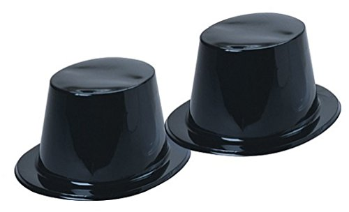 Plastic Top Hats Pack Black product image