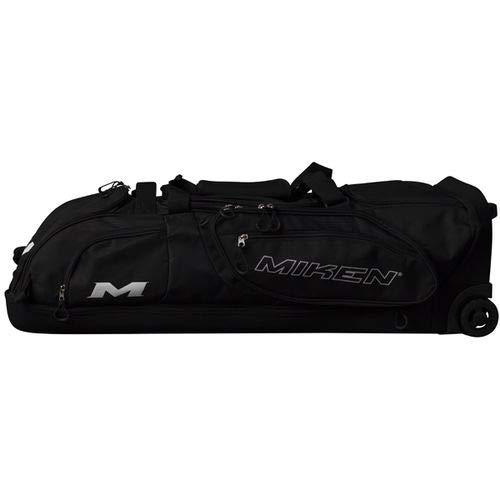 Miken Pro Player Wheeled Slowpitch Softball Bag, Holds 4 Bats ()