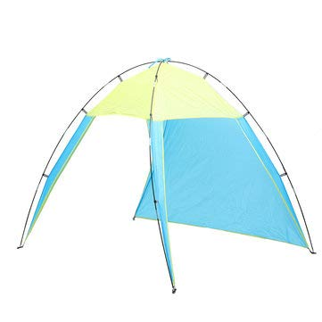 Outdoor 5-8 People Triangle Beach Tent Pop Up Camping Anti-UV Sun Shade Shelter - Camping Tent & sunshade - 1 x Tent