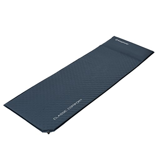 KingCamp CLASSIC Light Comfort Self-Inflating Camping Sleeping Pad with Built-in Pillows, Grey, CLASSIC COMFORT (75