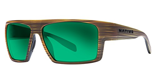 Native Eyewear Unisex Eldo Wood/Black/Black/Green Reflex