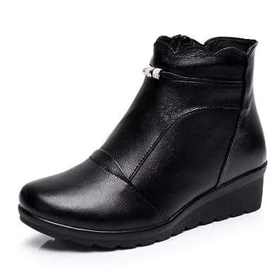 Amazon.com: Fumak Winter Shoes Woman Genuine Leather Snow