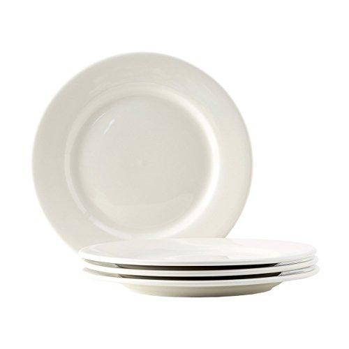 Reno Wide Rim - Tuxton Home Reno American Wide Rim Dinner Plate (Set of 4), 10 1/2
