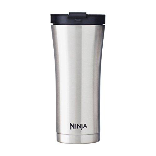 Ninja Coffee Bar 16-Ounce Double-Wall Thermal Travel Mug (CFSS16), Stainless Steel