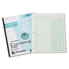 * Accounting Pad, Three Eight-Unit Columns, 8-1/2 x 11, 50-Sheet Pad