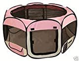Medium Pink Pet Tent Exercise Pen by BestPet