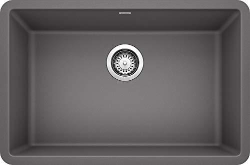 Blanco 522427 Precis 27 Single Bowl-Cinder Sink, 26.81 L X 17.75 W for 30 Cabinet