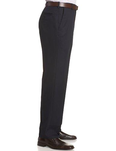 Haggar Men's Cool 18 Hidden Comfort Waist Plain Front Pant,Navy,36x29