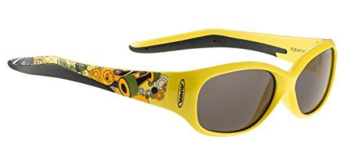 Alpina Flexxy Lunettes de soleil pour enfant Jaune/noir - Monture jaune - Verres noirs S3