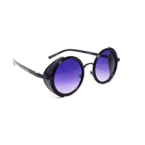 97b7c622e4 Outlet Gafas de sol ultra Steampunk 50s redondo gafas con protección UV400  en oro plata marrón
