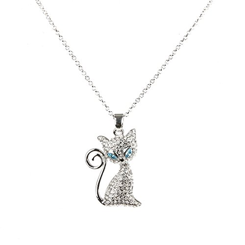 - MORNYRAY Necklace With Swarovski Crystal Cat Pendant Necklace Animal Necklaces For Women Gift For Her Cheap Jewelry