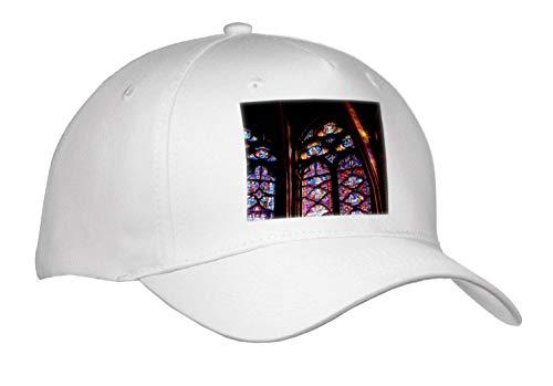 Elysium Photography - Architecture - Stained Glass in La Sainte-Chapelle, Paris - Caps - Adult Baseball Cap (Cap_289632_1)