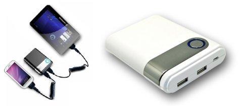 Usb Tip Pack - Diablotek Universal 8800 mAh Portable USB Battery Pack, Mini USB & Micro USB Tips Included & Many More
